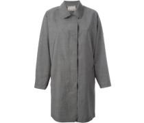 Mantel mit aufgerautem Saum