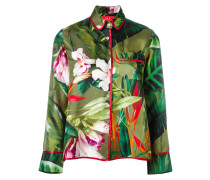 PyjamaOberteil mit floralem Print aus Seide