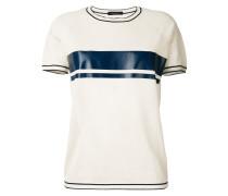 T-Shirt mit Konstraststreifen