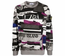 Sweatshirt im Patchwork-Look