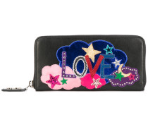 Love embroidered wallet - women - Leder
