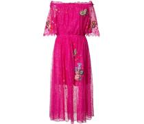 Ausgestelltes Kleid mit Schmetterlings-Patches