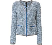 zipped knit jacket