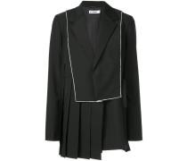 asymmetric pleat blazer