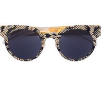 Sonnenbrille mit Schlangenledereffekt