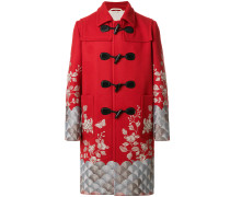 embroidered twill coat