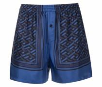 La Greca pattern sleepwear shorts
