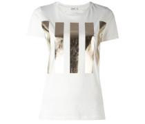 T-Shirt mit Metallic-Streifen - women