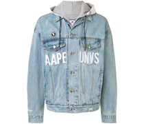 AAPE BY *A BATHING APE® Jeansjacke im Oversized-Look