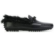 fur lined loafers