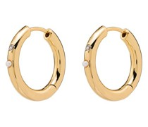 18k 'Bling' vergoldete Ohrringe mit Perlen