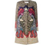 Mantel mit Leoparden-Print