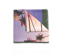 palm tree print cover-up