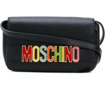 logo plaque shoulder bag - women - Leder/metal