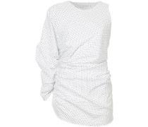 one-sleeve gather blouse