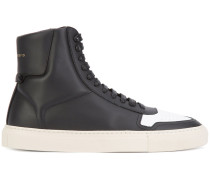 High-Top-Sneakers mit kontrastierender Kappe