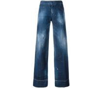 Ausgestellte Jeans - women - Baumwolle/Elastan