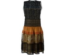 Kleid mit gelöchertem Top