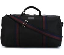 Reisetasche mit Streifeneinsätzen