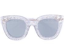 Cat-Eye-Sonnenbrille mit Swarovski-Sternen