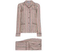 Silk pyjamas with wave pattern