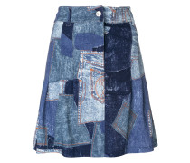 patchwork effect skirt