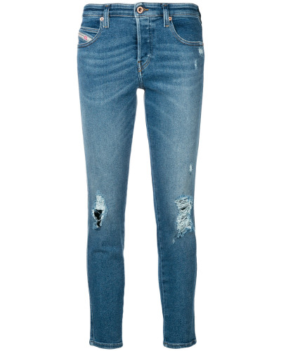 'Babhila' Skinny-Jeans in Distressed-Optik