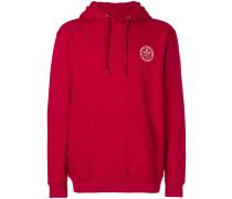 chest logo drawstring hoodie