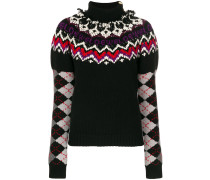Pullover mit Argyle-Strickmuster