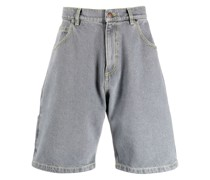Jeans-Shorts mit Logo-Stickerei