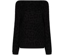 Schulterfreier Pullover mit Print