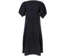 pinstripe dress with tie waist