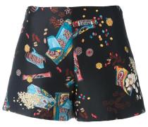 Shorts mit Snack-Print