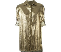 Hemd im Metallic-Look