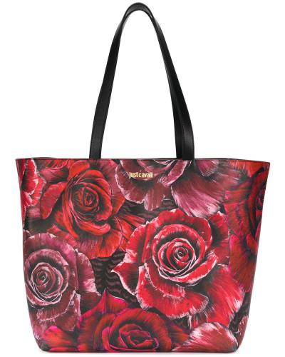 Shopper mit Rosen-Print