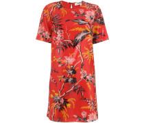 Gewachstes Kleid mit floralem Print