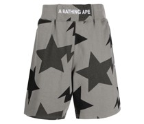A BATHING APE® Shorts mit Sterne-Print