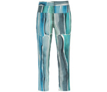 printed cropped trousers - Unavailable