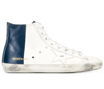 High-Top-Sneakers mit Stern-Patch