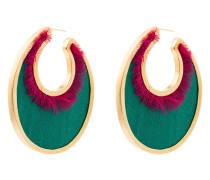 24k 'Oval' vergoldete Ohrringe