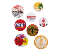 set of eight badges