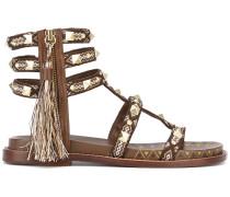 Sandalen mit Quaste - women - Baumwolle/Leder