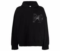 graphic-print cotton hoodie