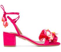 Sandalen mit Pompons