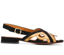 Sandalen in Colour-Block-Optik