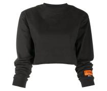 Cropped-Sweatshirt mit Logo-Patch