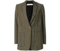 oversized checked blazer
