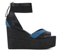 Sandalen mit Jeanseinsätzen - women