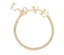 18kt 'Love' Gelbgoldarmband mit Diamanten
