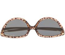 Cat-Eye-Sonnenbrille mit Leopardenmuster